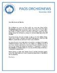 November 2018 PAOS News